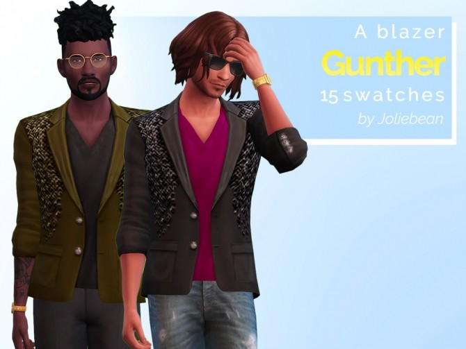 Sims 4 Gunther Goth mini set of clothes at Joliebean