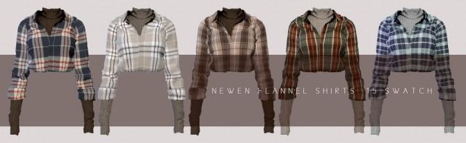 Flannel Shirts & Belt Denim Shorts at NEWEN image 22210 670x206 Sims 4 Updates