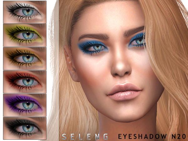 Eyeshadow N20 by Seleng at TSR image 2225 Sims 4 Updates