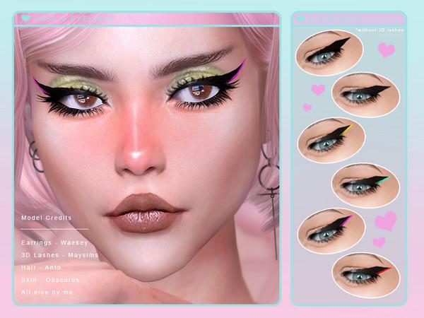 Ursa Eyeliner by Screaming Mustard at TSR image 2228 Sims 4 Updates