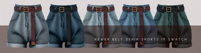 Flannel Shirts & Belt Denim Shorts at NEWEN image 2234 670x177 Sims 4 Updates