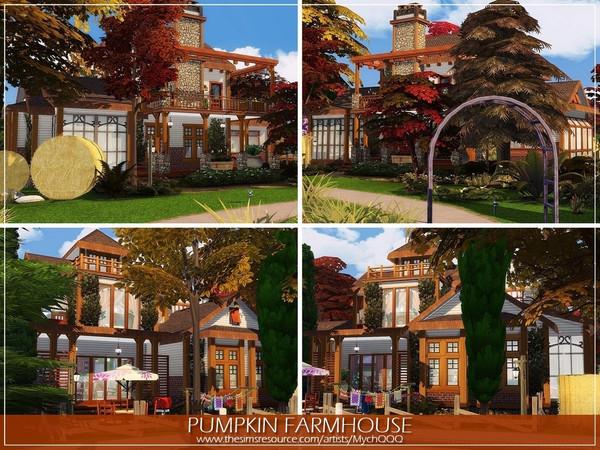 Sims 4 Pumpkin Farmhouse by MychQQQ at TSR