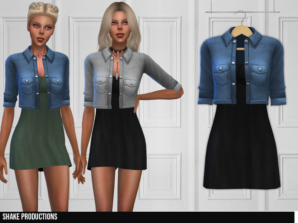 Sims 4 316 Dress by ShakeProductions at TSR