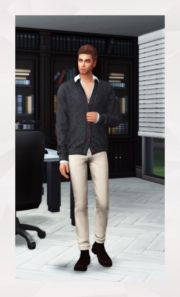 Cardigan & Shirt at Gorilla image 2372 608x1000 Sims 4 Updates