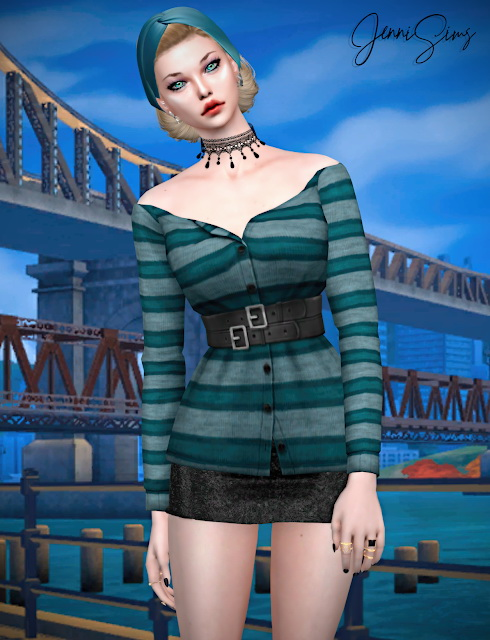 Sims 4 Blouse 19 designs at Jenni Sims