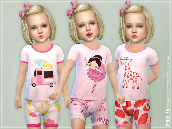 Summer Pajama for Toddler by lillka at TSR image 2412 Sims 4 Updates