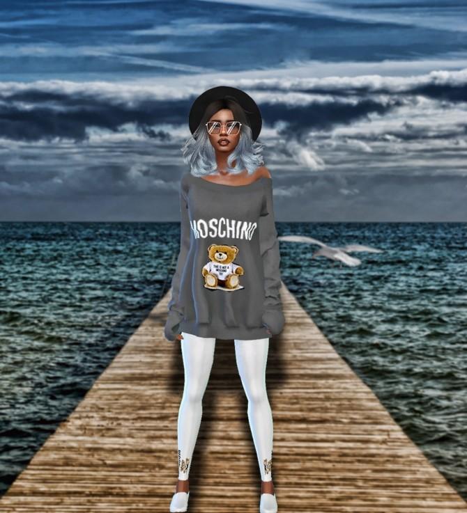 Sims 4 Moschino Set: dress and tights at Teenageeaglerunner