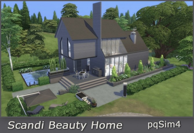 Sims 4 Scandi Beauty Home at pqSims4