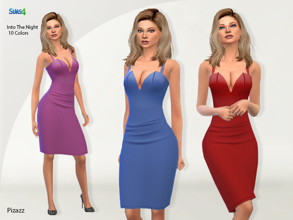 Sims 4 Into The Night dress by pizazz at TSR