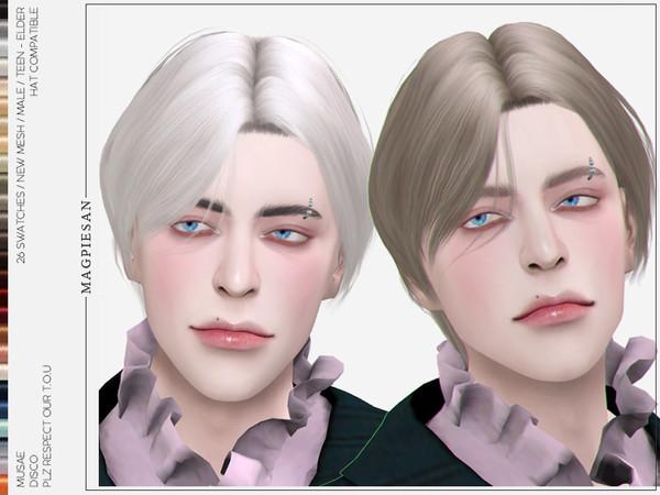 Disco Hair by magpiesan at TSR image 2511 Sims 4 Updates
