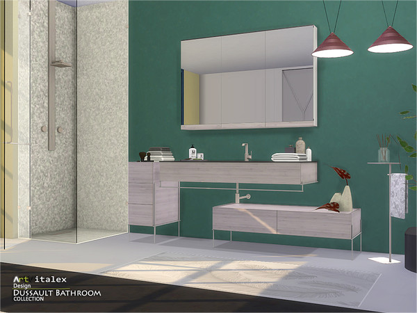 Dussault Bathroom by ArtVitalex at TSR image 2517 Sims 4 Updates