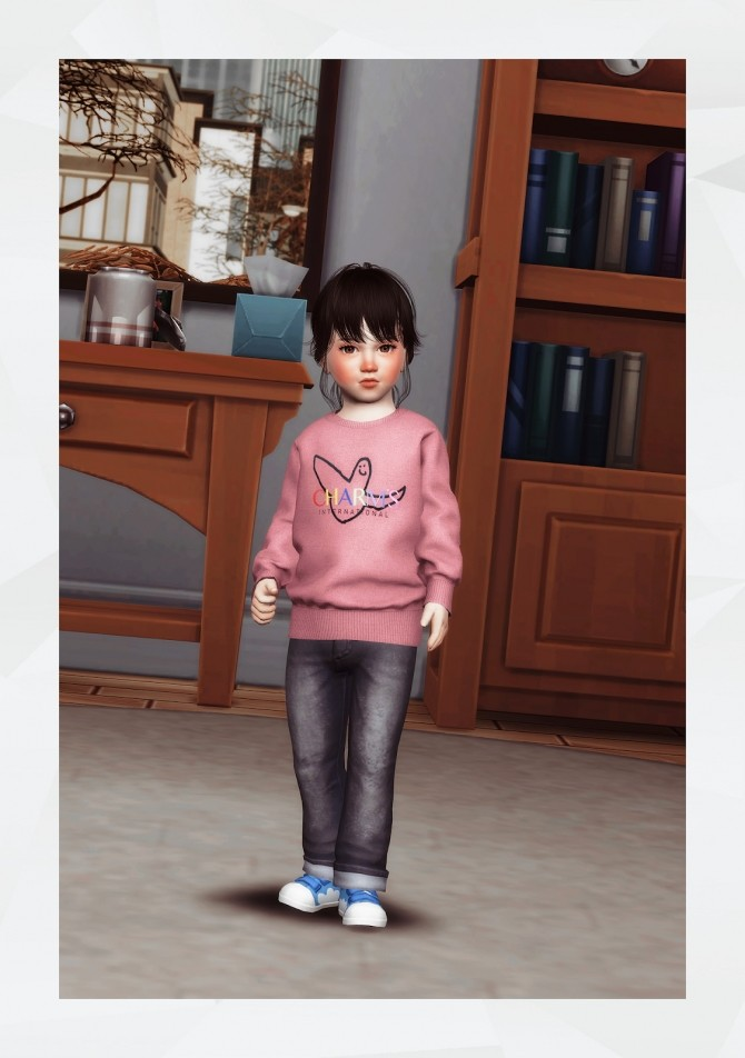 Oversized Sweatshirt toddler at Gorilla image 2542 670x952 Sims 4 Updates