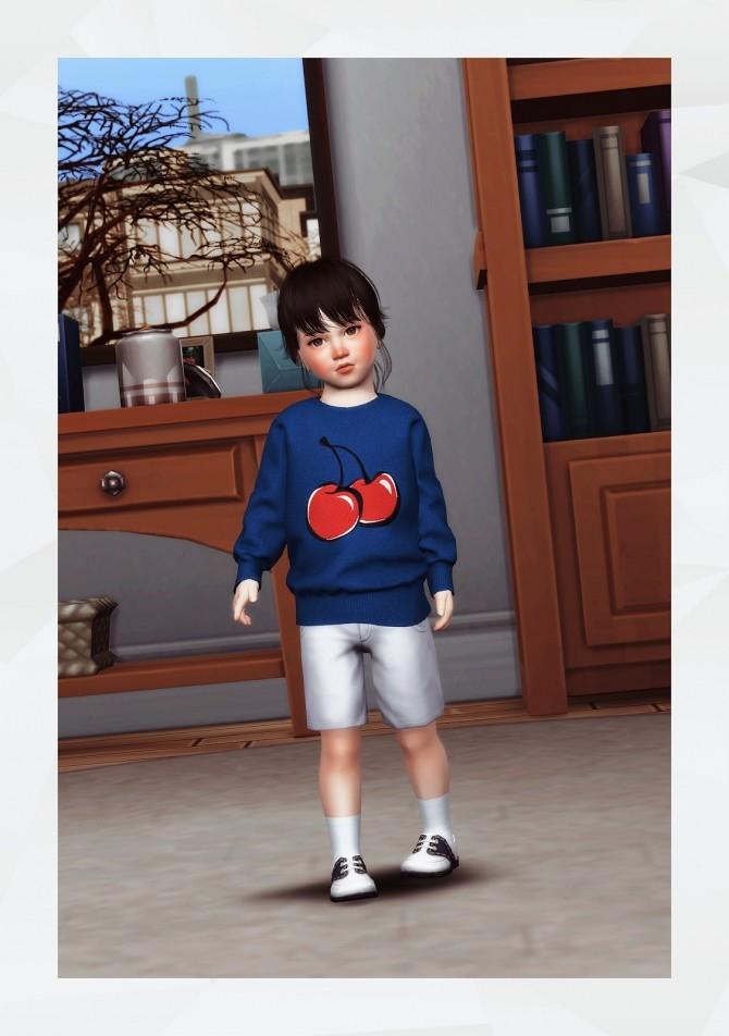 Oversized Sweatshirt toddler at Gorilla image 2552 670x952 Sims 4 Updates