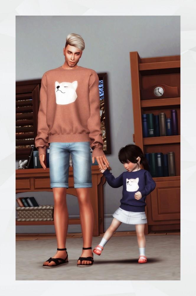 Oversized Sweatshirt toddler at Gorilla image 2562 664x1000 Sims 4 Updates