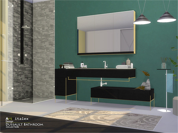 Dussault Bathroom by ArtVitalex at TSR image 2617 Sims 4 Updates