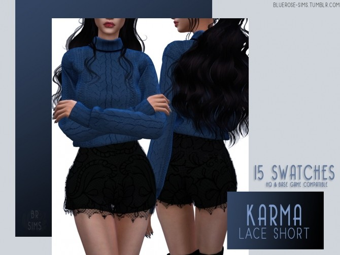 Sims 4 Karma Lace Set at BlueRose Sims