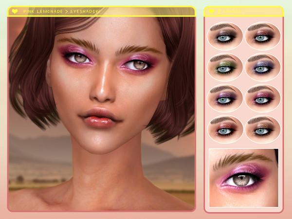 Pink Lemonade Eyeshadow by Screaming Mustard at TSR image 2719 Sims 4 Updates