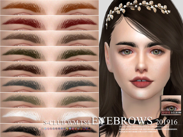 Sims 4 Eyebrows 201916 by S Club WM at TSR