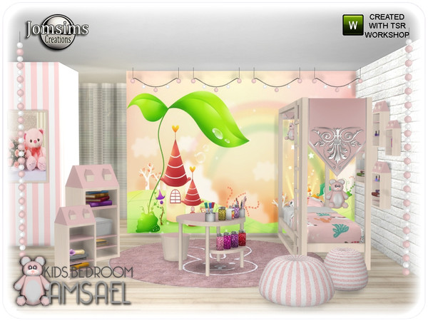 Sims 4 Amsael kids bedroom by jomsims at TSR