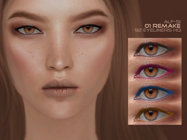 Eyeliner 01 [remake] HQ by Alf si at TSR image 275 Sims 4 Updates
