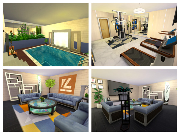 Sims 4 Modern Seaways house by Mini Simmer at TSR