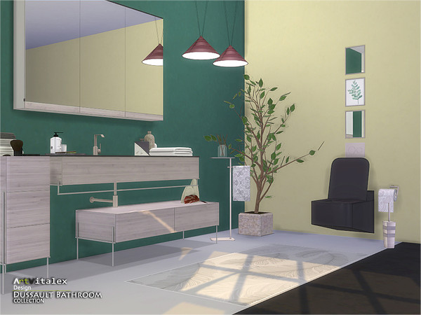 Dussault Bathroom by ArtVitalex at TSR image 2817 Sims 4 Updates