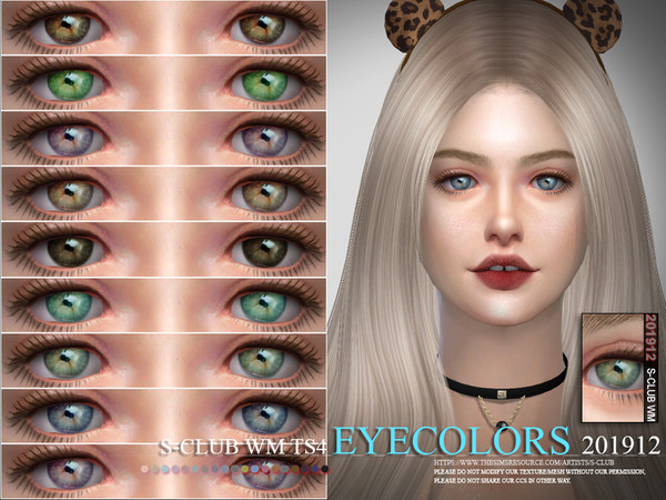 Sims 4 Eyecolors 201912 by S Club WM at TSR
