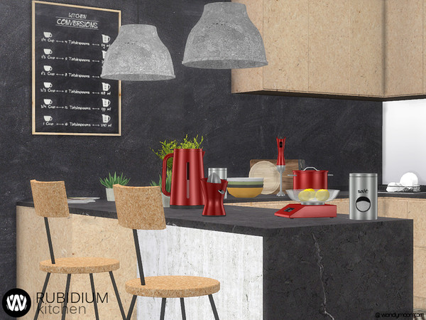 Sims 4 Rubidium Kitchen Decorations by wondymoon at TSR