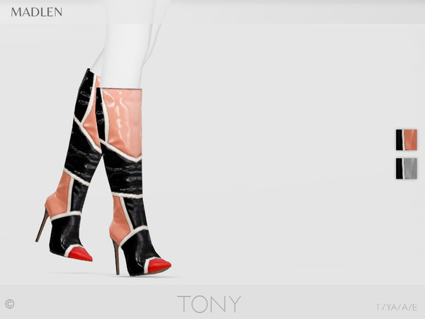Sims 4 Madlen Tony Boots by MJ95 at TSR