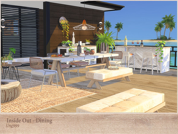Inside Out Dining by ung999 at TSR image 3081 Sims 4 Updates
