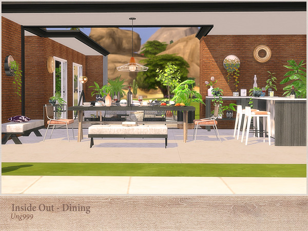 Inside Out Dining by ung999 at TSR image 3091 Sims 4 Updates
