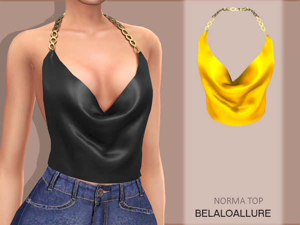 Sims 4 Norma top by belal1997 at TSR