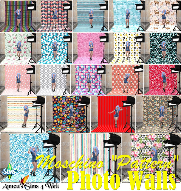 Moschino Stuff Photo Walls Pattern at Annett's Sims 4 Welt image 310 Sims 4 Updates