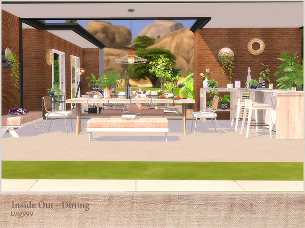 Inside Out Dining by ung999 at TSR image 3101 Sims 4 Updates