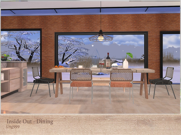 Inside Out Dining by ung999 at TSR image 3111 Sims 4 Updates