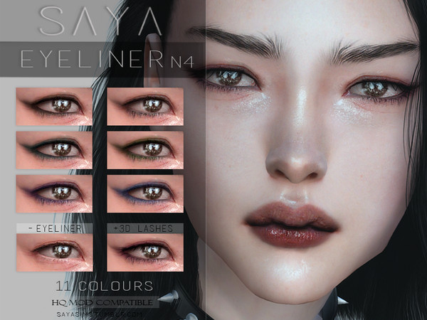 Sims 4 Eyeliner N4 by SayaSims at TSR