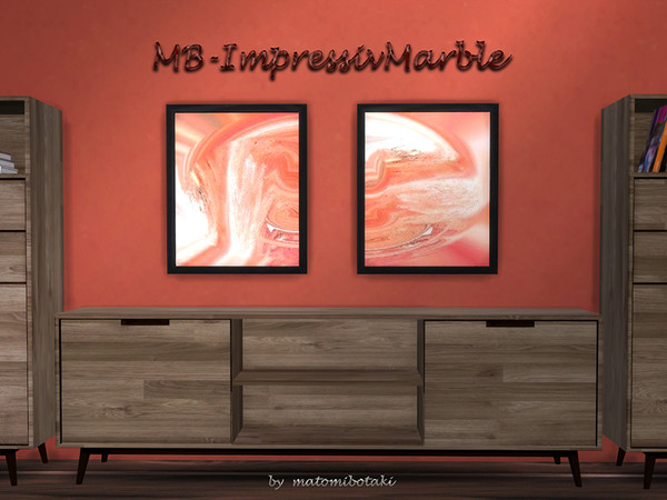 MB Impressive Marble paintings by matomibotaki at TSR image 3119 Sims 4 Updates