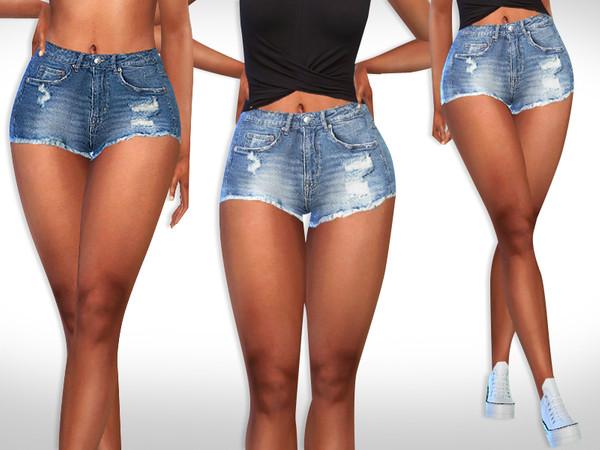Sims 4 Female Super Mini Cropped Shorts by Saliwa at TSR