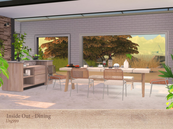 Inside Out Dining by ung999 at TSR image 3121 Sims 4 Updates
