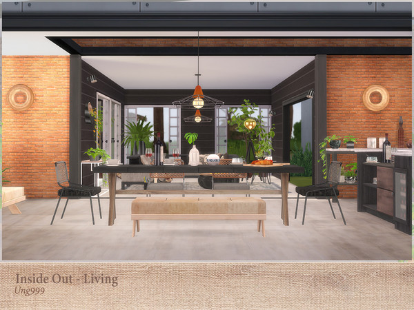 Inside Out Dining by ung999 at TSR image 3131 Sims 4 Updates