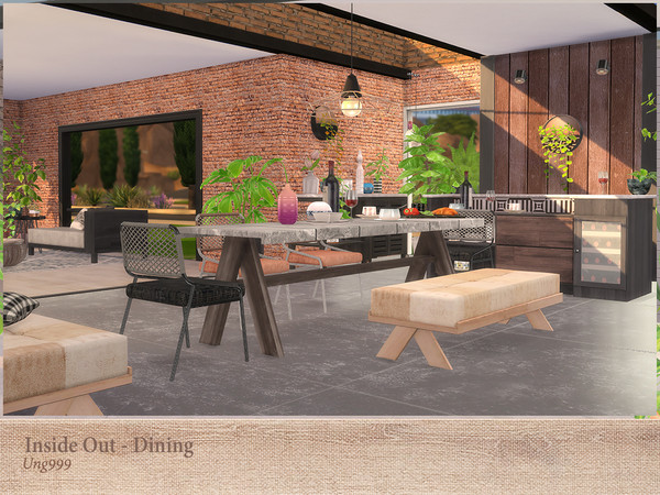 Inside Out Dining by ung999 at TSR image 3141 Sims 4 Updates