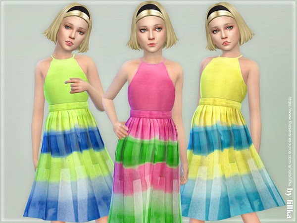 Sims 4 Girls Dresses Collection P130 by lillka at TSR