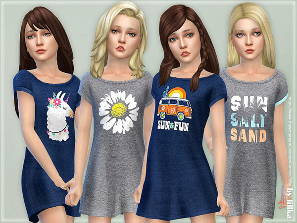 Sims 4 Girls Dresses Collection P129 by lillka at TSR