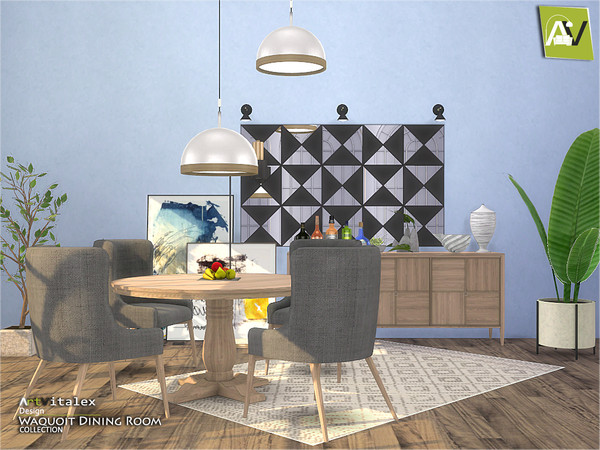 Waquoit Dining Room by ArtVitalex at TSR image 3214 Sims 4 Updates