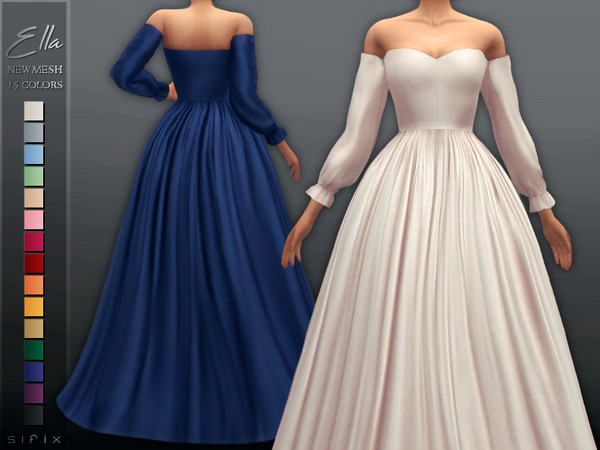 Sims 4 Ella Gown by Sifix at TSR