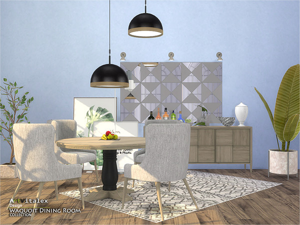 Waquoit Dining Room by ArtVitalex at TSR image 3312 Sims 4 Updates