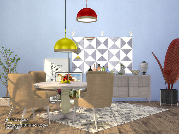 Waquoit Dining Room by ArtVitalex at TSR image 3415 Sims 4 Updates