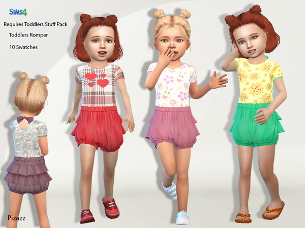 Toddler Romper Set by pizazz at TSR image 3419 Sims 4 Updates