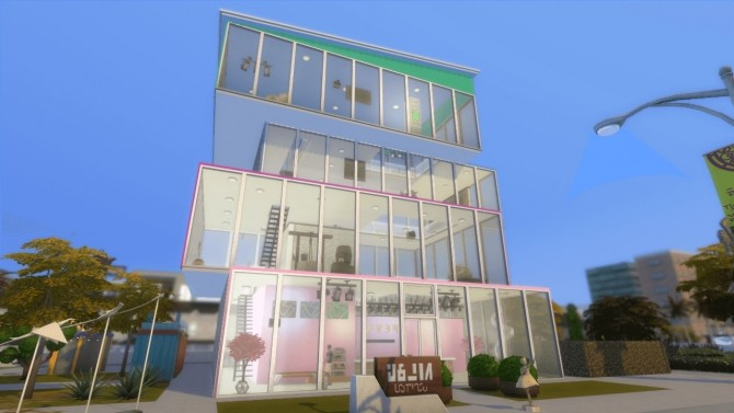 Sims 4 SimCity Contemporary Museum by lolakret at Mod The Sims