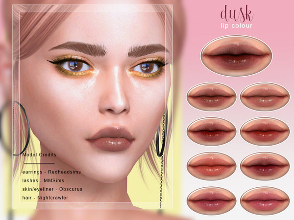 Dusk Lip Colour by Screaming Mustard at TSR image 3427 Sims 4 Updates